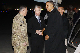 Obama arrives in Kabul (courtesy of Associated Press)