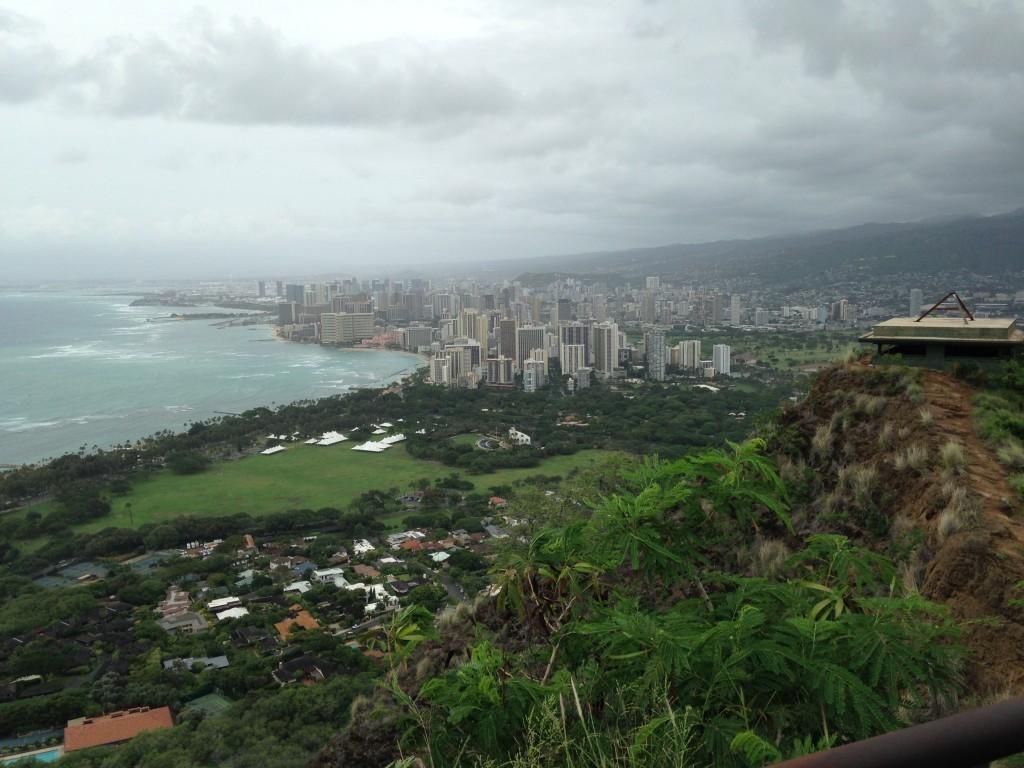 Honolulu from Diamond Head peak photo by Scott Holleran