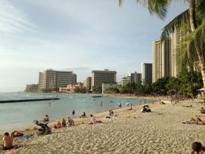 Waikiki Beach photo by Scott Holleran