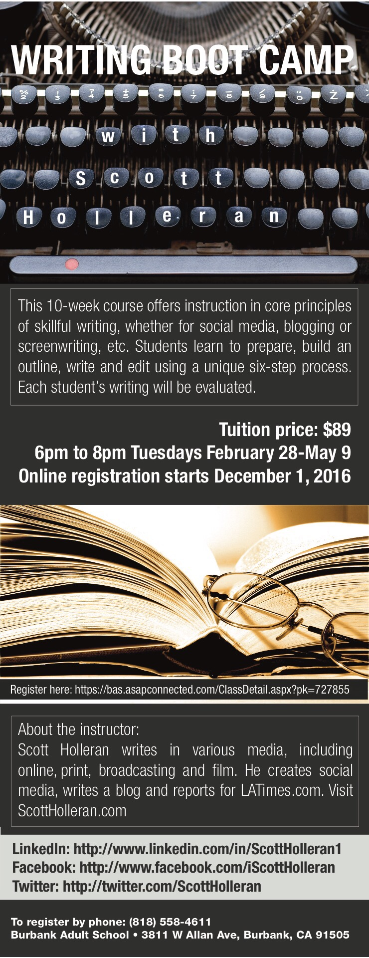 Register for My Media and Writing Courses
